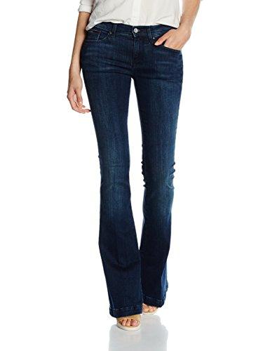 Dark Denim Flare Jeans (Tommy Jeans Damen MID RISE FLARE FRAN DAST  Boot-Cut Jeans Blau (Dark Stretch 911) W31/L32)