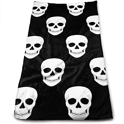 WBinHua Frottiertücher, Strandtücher, Halloween Holiday Skull Multi-Purpose Microfiber Towel Ultra Compact Super Absorbent and Fast Drying Travel Towel Beach Towel Perfect for Camping, Gym, Swimming.