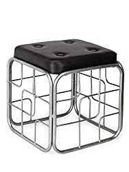 Onlineshoppee Iron & Cushion Stool/Table Size(LxBxH-13x13x14) Inch AFR1343