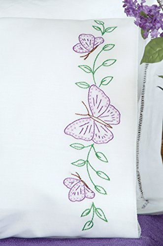 Jack Dempsey Needle Art Kissenbezug Schmetterlinge -
