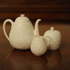 Bone China Tea set In Paisley Design - Designer Tea Pot Sets - Truly Minka
