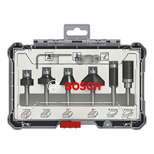 Bosch Professional 2607017468 Juego 6 Fresas perfilar