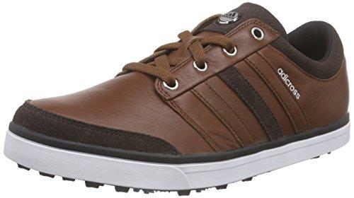 adidas Herren Adicross Gripmor Golfschuhe, Braun (Tan Brown/Chocolate/Power Green), 42 EU