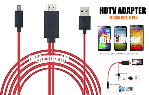 Ideal Dream Micro USB 11 Pin auf USB und HDMI Bildschirm Mirorring Video Konverter Kabel Adapter Unterstützung MHL 2.0 Samsung Galaxy Express Galaxy K Zoom Galaxy Mega Note Note 2 Note 3 Note 4 und Samsung Galaxy S2 S3 S4 S5 Tab S Tab 3 8