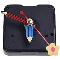 SODIAL(R) Mecanismo Reloj Cuarzo Horario Minutero Segundero Flor DIY