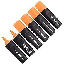 Paquete de 6 Lápices fluorescentes Marcadores de oficina para estudiantes Marcadores de ancho