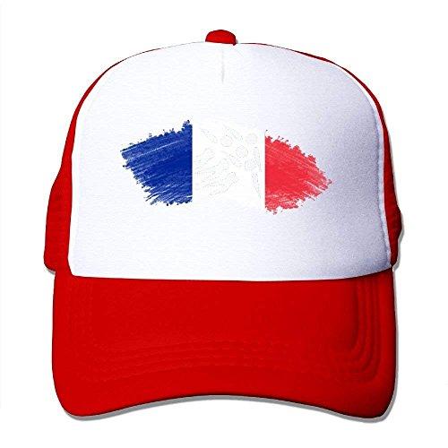 Qicaiyang Flag of France Short Track Speed Skating Unisex Handsome Mesh Hats Adjustables