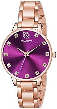 Caviot Casual Analog Purple Dial Women's Watch - CW