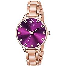Caviot Casual Analog Purple Dial Women's Watch - CW3507