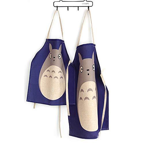 RLYJZ Lovely Parent-Child Totoro Animal Delantal Algodón