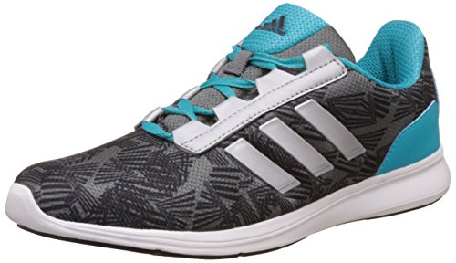 adidas Women's Adi Pacer Elite 2.0 W Visgre, Black, Metsil and Enebl Running Shoes - 8 UK/India (42 EU)