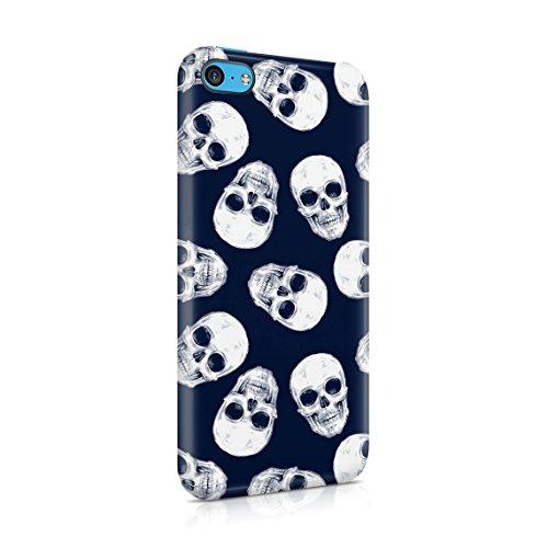 Schwarz & Weiß Realistic Human Skull Card Dünne Rückschale aus Hartplastik für iPhone 7 & iPhone 8 Handy Hülle Schutzhülle Slim Fit Case cover Grunge Gothic