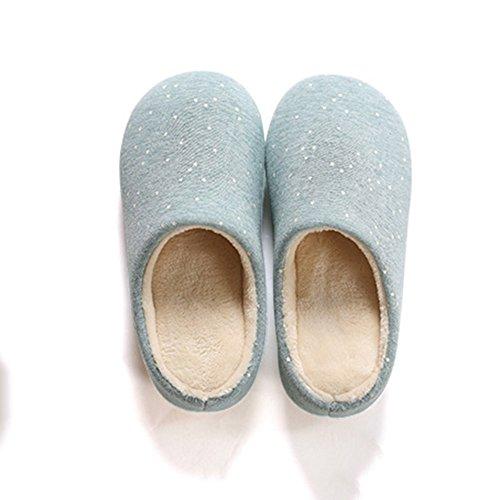 Pantoufles pour enfants Pantoufles pour maison en bois Pantoufles pour maison en coton dhiver 4 couleurs disponibles Taille en option ( Couleur : A , taille : 255(37-39) ) A