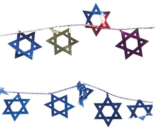 IGD Stern Zum Aufhängen von David Urlaub Dekorationen Bunten & Blau Streifen Combo