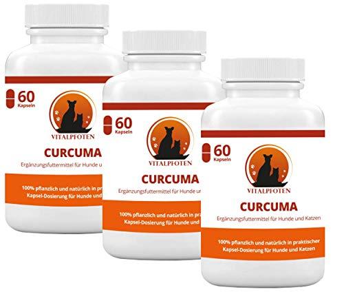 Vitalpfoten 3x60 Kapseln Curcuma für Hunde und
