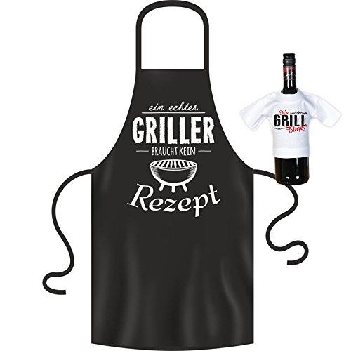 Grill schurz:: echter Griller braucht kein ricetta originale: con mini Shirt senza bottiglia