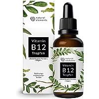 Vitamin B12 Tropfen 1000µg - 50ml (1700 Tropfen) - Beide Aktivformen (Methyl- & Adenosylcobalamin) - Ohne Alkohol, vegan & hergestellt in Deutschland