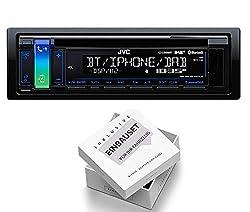 JVC KD-DB98BT 1DIN Radio Bluetooth DAB + Antenne mit Einbauset für Citroen C3 Pluriel (H) 2003-2010