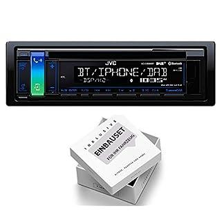 JVC-KD-DB98BT-1DIN-Radio-Bluetooth-DAB-Antenne-mit-Einbauset-fr-Peugeot-206-206-CC-1998-2007