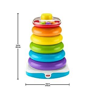 Fisher - Price pirámide balanceante gigante, juguete para niños +6 meses (Mattel GJW15)