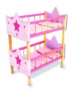 House of toys 777104 letto a castello per bambole for Cianografie del letto della principessa