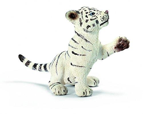 Schleich 14385  - Wild Life, Tigerjunges weiß, spielend