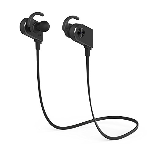 Auricolare Bluetooth, YXwin Auricolare Bluetooth Sport Stereo V4.1 CSR Controllo con magneti Per Iphone Ipad Sony PS4 Huawei Samsung e altricellulari Android - Nero