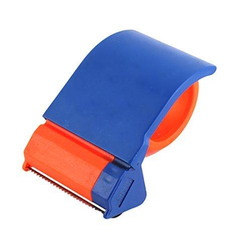 DealMux oficina plástico Anchura de embalaje paquete sellado Dispensador de cinta de rodillo cortador de Orange