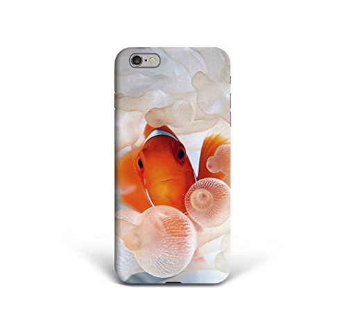 for iPhone 6 Plus + iPhone 6s Plus + Phone Back Case Hard Cover Custom Personalised Trendy Style Present Modern Design Protective Plastic UK Brand Appfix Gold Fish minimal Fish Tank White Nature