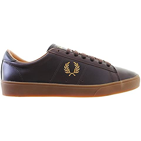 Fred Perry Zapatos Sneaker Hombre Spencer Leather B5248 325 dark Chocolate
