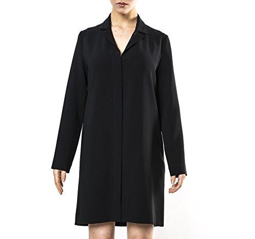 ROBE HOCHE, Style veste courte manche longue avec col tailleur, Fabriquée en France