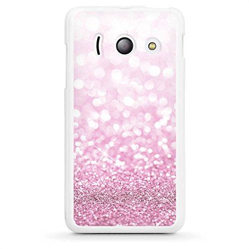 DeinDesign Huawei Ascend Y300 Hülle Silikon Case Schutz Cover Glitzer Erscheinungsbild Pink Glanz