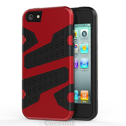 iPhone SE / 5S / 5 Funda, Cocomii Deadpool Armor NEW [Heavy Duty] Premium Tactical Grip Slim Fit Shockproof Hard Bumper Shell [Military Defender] Full Body Dual Layer Rugged Cover Case Carcasa Apple (Red)