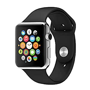 JIKRA ZTE Blade Q Compatible Certified Bluetooth Smart Watch GT08 Wrist Watch Phone with Camera & SIM Card Support Hot Fashion New Arrival Best Selling Premium Quality Lowest Price with Apps like Facebook, Whatsapp, QQ, WeChat, Twitter, Time Schedule, Read Message or News, Sports, Health, Pedometer, Sedentary Remind & Sleep Monitoring, Better Display, Loud Speaker, Microphone, Touch Screen, Multi-Language, Compatible with Android iOS Mobile Tablet PC iPhone-SILVER