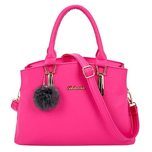 Bfmyxgs Mother es Day Fashion Women Solid Color Hairball Crossbody Bag Shoulder Bag Hand Bag Tote Totes Handtasche Shoulder Bag Bag...
