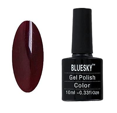 Gel Polish Nails by Bluesky Burgundy Brown Gel Polish 10ml