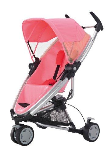 Quinny 72905530 Zapp Xtra Travelsystem mit Liegeposition inklusive Einkaufskorb, Sonnenverdeck, Regenverdeck, Sonnenschirmclip und Adapter für die Babyschale, pink blush