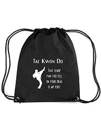 T-Shirtshock - Mochila Budget Gymsac TAM0175 taekwondo sharp pain dark tshirt