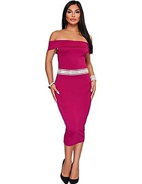 Vestidos Las mujeres visten Collar Off-Shoulder High-Waist Slim falda de lápiz