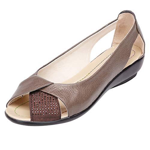 Damen Damen Peep Open Toe Sandalen Laser Cut Slip On Sommer Freizeitschuhe Niedriger Absatz Plateauschuh mit Glitzerperlen Größe UK 4 5 6 7 8 - Hi Heel Open-toe