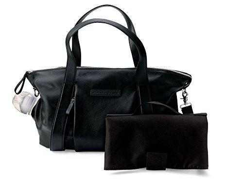 Preisvergleich Produktbild BUGABOO–Tasche Von Ledertasche Storksak + schwarz