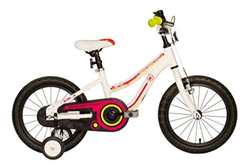 """16\"""" Zoll Aluminum Fahrrad LEADER FOX Keno Kinderrad MTB weiss"""
