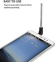 SOLDOUT™ 3.5mm FM Radio Receiver Antenna Retractable Aerial Stainless Steel Multi-Purpose Interface FM Radio F