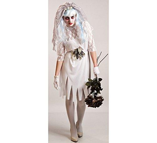 Imagen de disfraz de novia cadáver de mujer para halloween