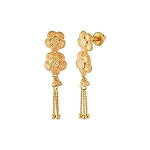 WHP Jewellers 22k Yellow Gold Drop Latkan Earrings