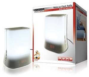 Konig Radio Alarm Clock with LED Wake-up Lamp