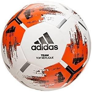 adidas Team Top Replique Fußball, White/Orange/Black/Iron Metallic, 4