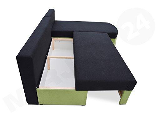 SMART Ecksofa mit Schlaffunktion und Bettkasten in L-Form