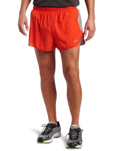1/2 Split Shorts (ASICS Herren Split Short, Herren, Red Pepper/Frost, X-Large)