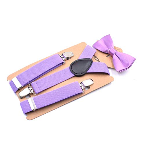 YLWTXDD Braces for Boys And Elastic Buckle Leather Girl for Toddlers Suspenders Bow Tie Suit for Kids Suspenders Fastening Strap Adjustable Garter Belt, F